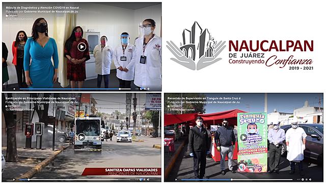 -Recorrido de Supervisión en Tianguis de Santa Cruz del Monte -Sanitización en Principales Vialidades de Naucalpan -Módulo de Diagnóstico y Atención COVID19 en Naucalpan