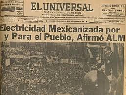 Nacionalizacion en Mexico de la industria electrica