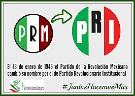 Transformacion del PRM al PRI