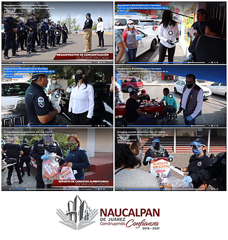 - Entrega de canastas alimentarias, San Luis Tlatilco - Megaoperativo #QuédateEnCasa en Naucalpan