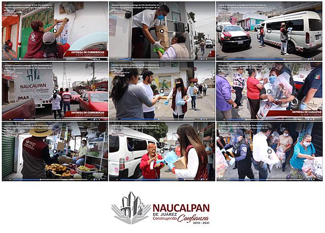 - Entrega de canastas alimentarias en San Agustín y Chamapa - Jornada informativa y entrega de Kits Sanitizantes en Naucalpan.