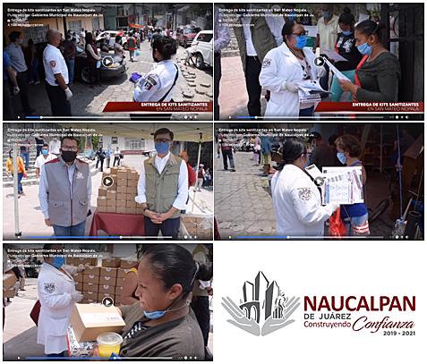 - Entrega de kits sanitizantes en San Mateo Nopala.