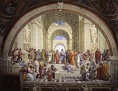 Raffaello Sanzio pintura l'Escola d'Atenes