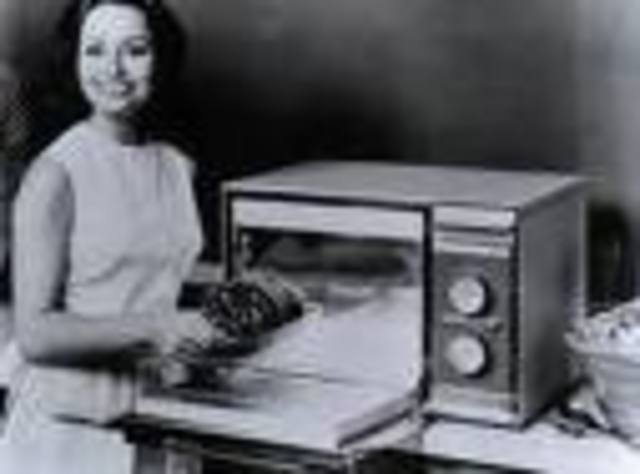 Microwave oven invented