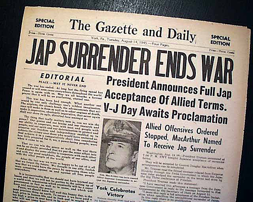Japan had surrendered unconditionally to the Allies
