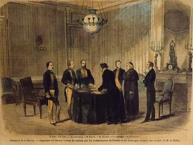 Annessione di Nizza e della Savoia alla Francia