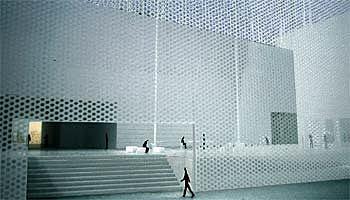 Una pell metàl·lica translúcida transformarà l'IVAM en un 'far de l'art' de 30 metres