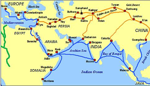 Rutas comerciales transcontinentales