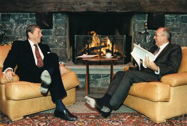 President Reagan and Gorbachev meet