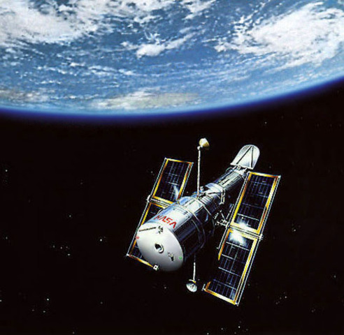The Hubble Space Telescope is launched into orbit around the Earth.