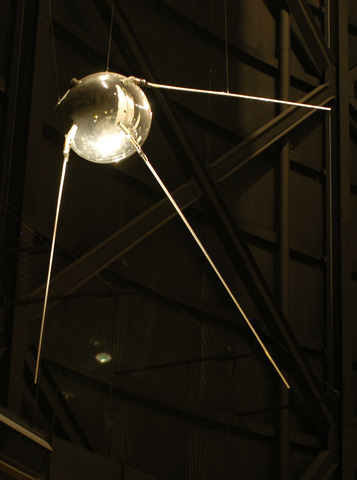 Soviet satellite sputnik is launched into space