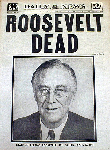 La mort de Roosevelt