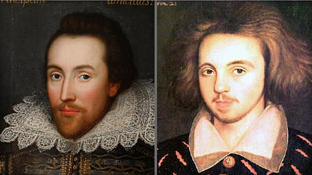 Marlowe and Shakespeare are born