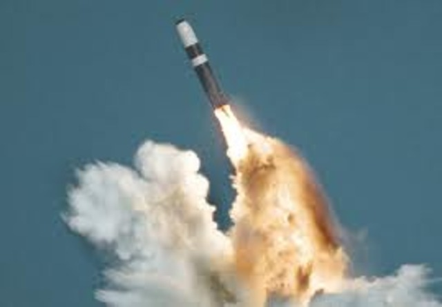 The first US ballistic missile fired.