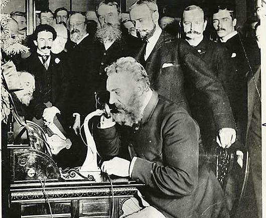 Första telefonen