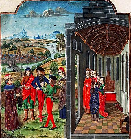 Boccaccio writes about the Black Death