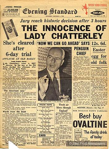 Lawrence's novel Lady Chatterley's Lover