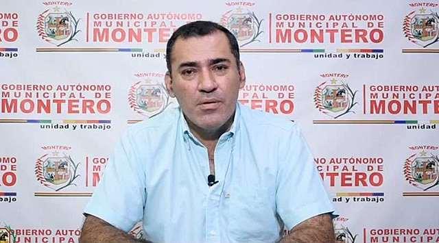 """Alcalde de Montero dio positivo a coronavirus: """"Pensé que nunca me iba a dar esta enfermedad; me preocupan mi esposa y mis hijas"""""""