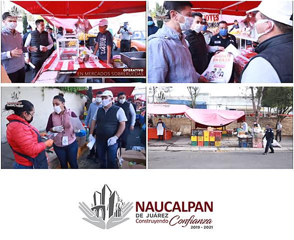 - Operativo de Información COVID-19 en mercados de Naucalpan