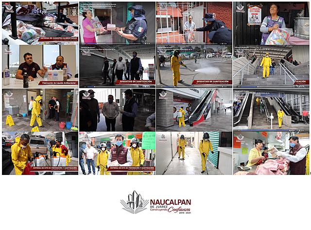 El Gobierno Municipal, a través de Secretaría de Desarrollo Económico, realizó entrega de Kits de Prevención en mercados de #Naucalpan. Asimismo, Protección Civil y Bomberos sanitizó las áreas para garantizar la eliminación de virus y bacterias