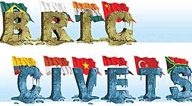 Eventos Brics y Civets timeline