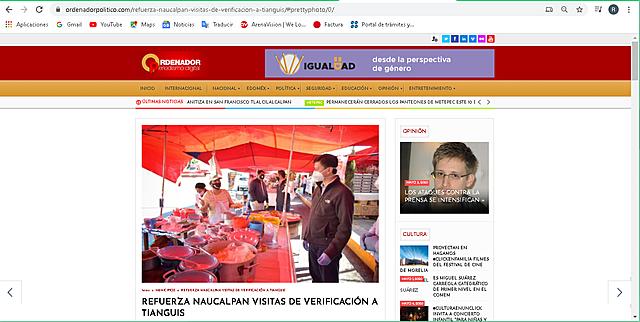 REFUERZA NAUCALPAN VISITAS DE VERIFICACIÓN A TIANGUIS