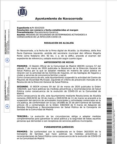 CIERRE DE ZONAS RECREATIVAS