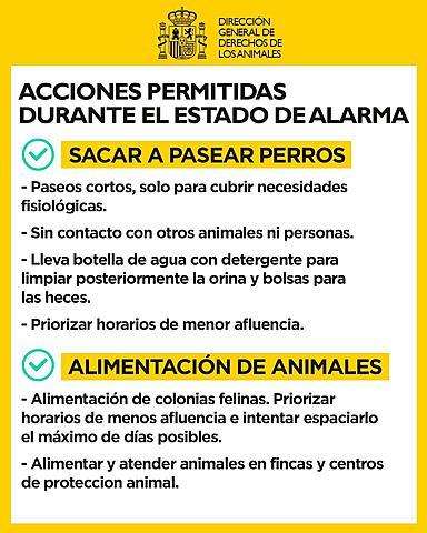 ACCIONES PERMITIDAS DURANTE EL ESTADO DE ALARMA