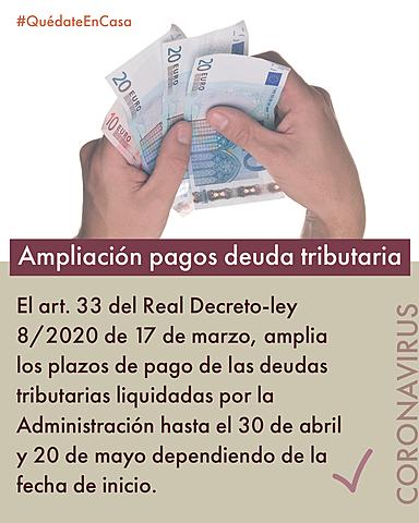 Ampliación pagos deudas tributarias