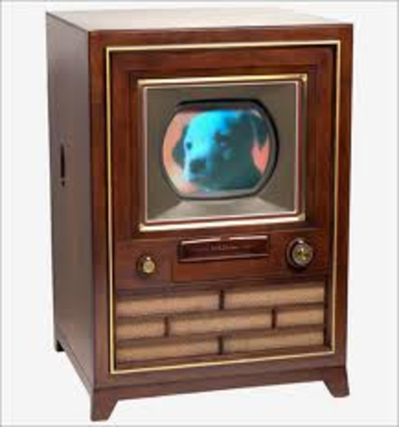 About 55.7% of american households had a television set