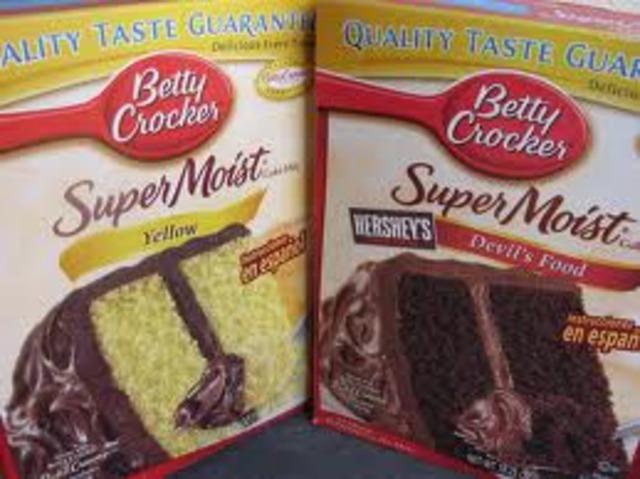 Cake mix invented.