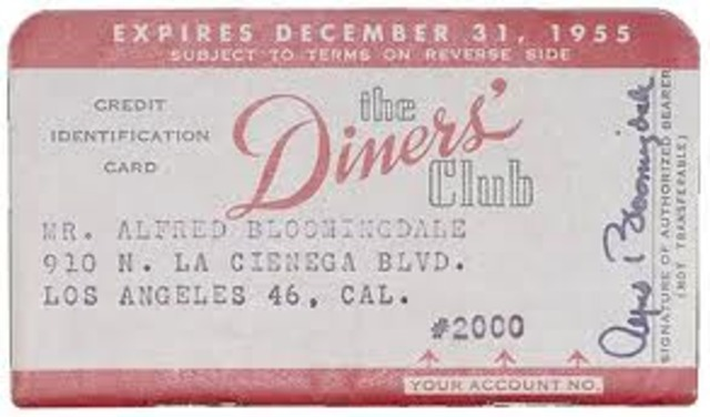 The first credit card (Diners) invented