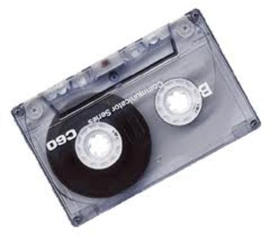 •The audio cassette invented