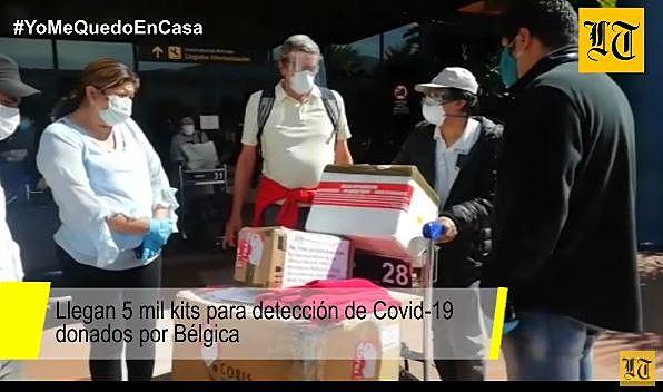 Llegan 5 mil kits para detección de Covid-19 donados por Bélgica