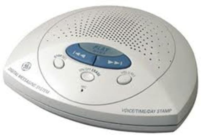The digital answering machine invented