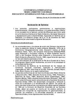 DECLARACIÓN DE SALONICA