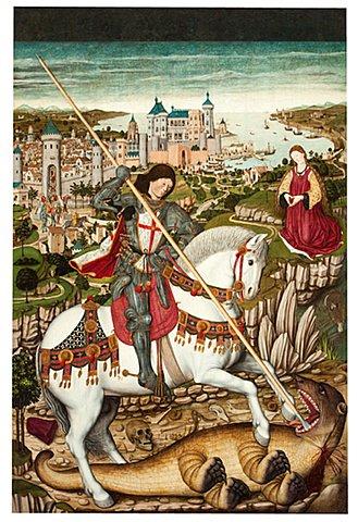 Jordi de Sant Jordi com a cavaller