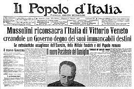 Mussolini kicked out of Socialist Party for pro-nationalistic sentiments regarding WW I