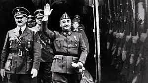 Encuentro entre Franco y Hitler en Hendaya.