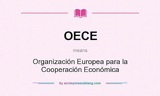 L'Organització Europea de Cooperació Econòmica
