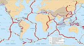 Tectónica de placas ( teoría que explica la forma en que está estructurada la litosfera. Esta da una explicación a las placas tectónicas que forman parte de la superficie de la Tierra y a los desplazamientos sobre el manto terrestre). timeline