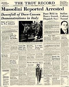 Mussolini brought down by coup during WW II
