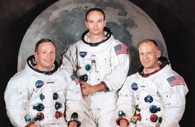 Armstrong and Aldrin first men on the moon