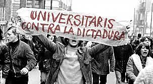 Revuelta de estudiantes universitarios en Madrid