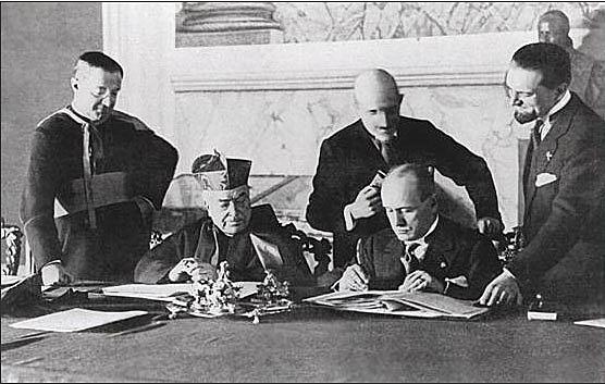 Lateran Treaty with Pope
