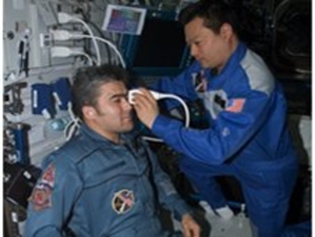 first remote ultrasound medical scans used by crew on ISS for ground based medical staff