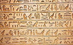 Los jeroglíficos una de las primeras formas de escritura.