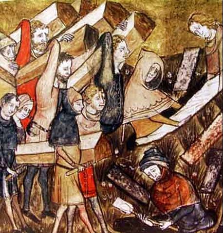 Arribada de la peste negra a Europa