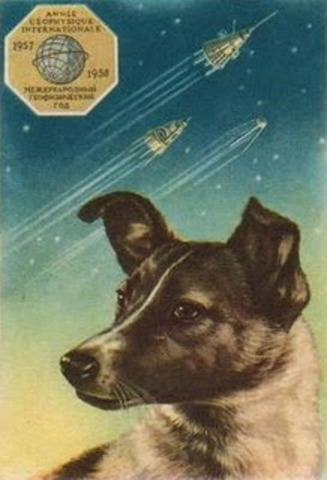 USSR sends dog to Space