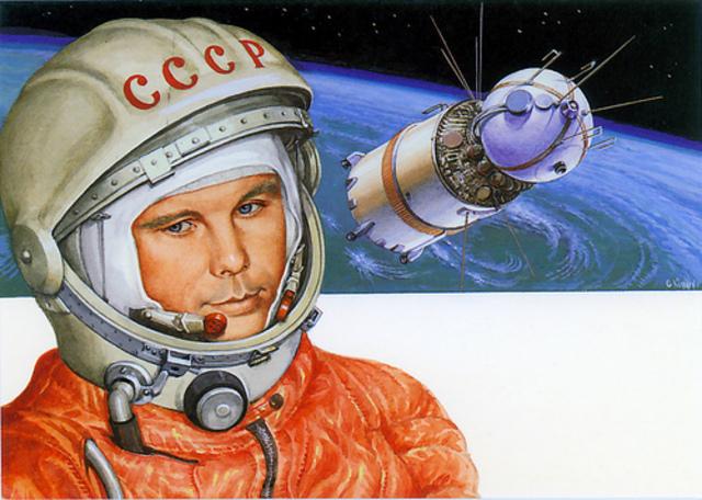 Yuri Gagarin, 1st man in Space